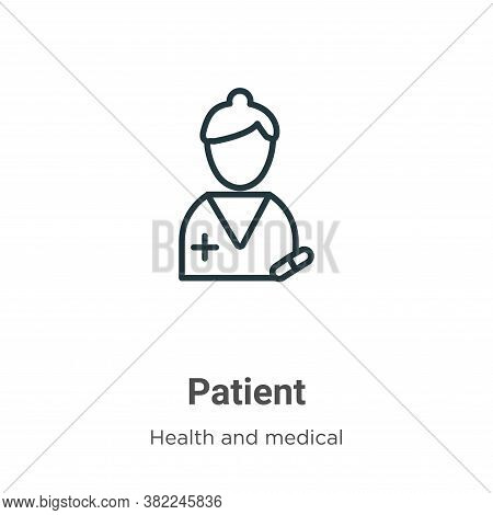 Patient icon isolated on white background from health and medical collection. Patient icon trendy an