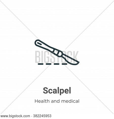 Scalpel icon isolated on white background from health and medical collection. Scalpel icon trendy an