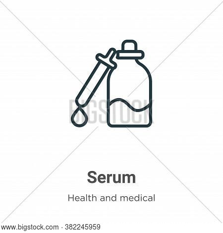 Serum icon isolated on white background from health and medical collection. Serum icon trendy and mo