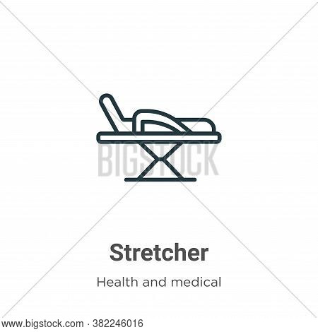 Stretcher icon isolated on white background from health and medical collection. Stretcher icon trend