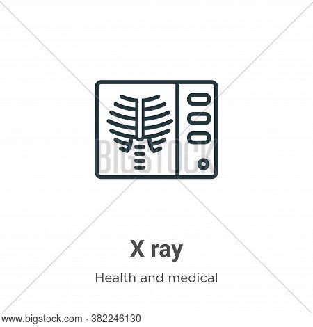 X ray icon isolated on white background from health and medical collection. X ray icon trendy and mo
