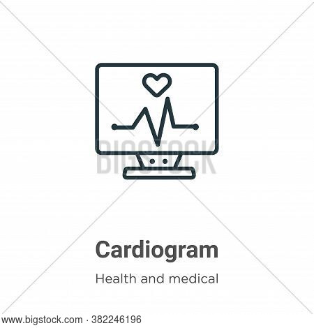 Cardiogram icon isolated on white background from health and medical collection. Cardiogram icon tre