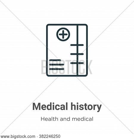 Medical history icon isolated on white background from health and medical collection. Medical histor
