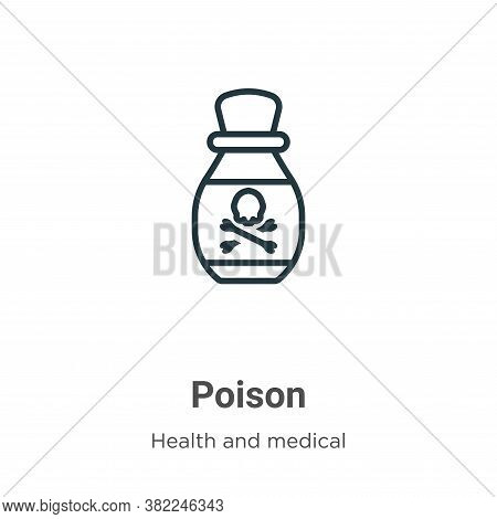 Poison icon isolated on white background from health and medical collection. Poison icon trendy and