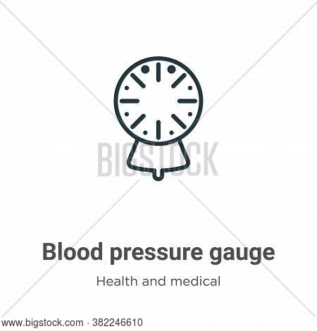 Blood pressure gauge icon isolated on white background from health and medical collection. Blood pre
