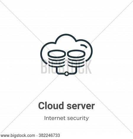Cloud server icon isolated on white background from networking collection. Cloud server icon trendy