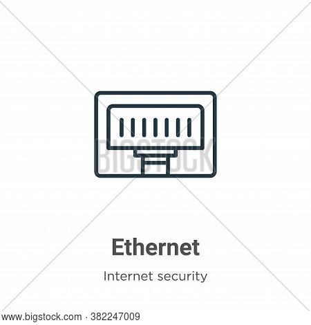 Ethernet icon isolated on white background from networking collection. Ethernet icon trendy and mode