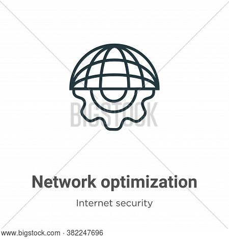 Network optimization icon isolated on white background from networking collection. Network optimizat