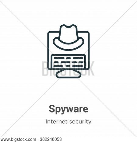 Spyware icon isolated on white background from internet security collection. Spyware icon trendy and