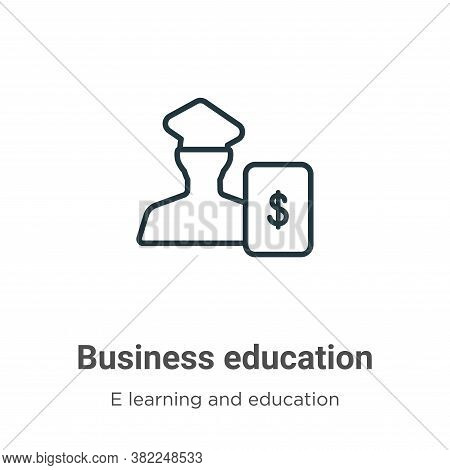 Business education icon isolated on white background from e learning and education collection. Busin