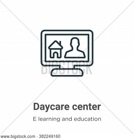Daycare center icon isolated on white background from e learning collection. Daycare center icon tre