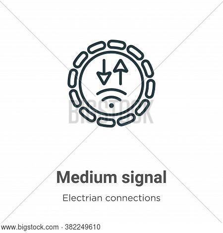 Medium signal icon isolated on white background from electrian connections collection. Medium signal