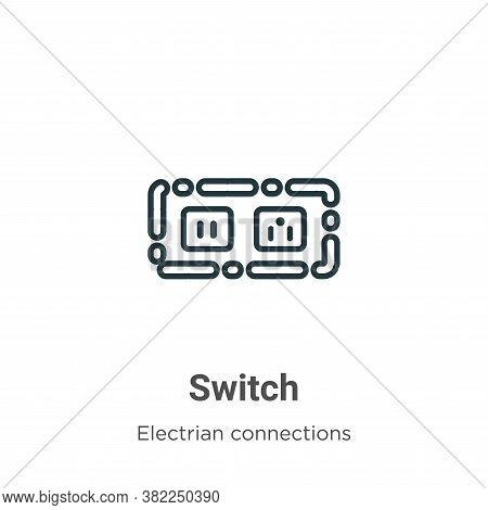 Switch icon isolated on white background from electrian connections collection. Switch icon trendy a