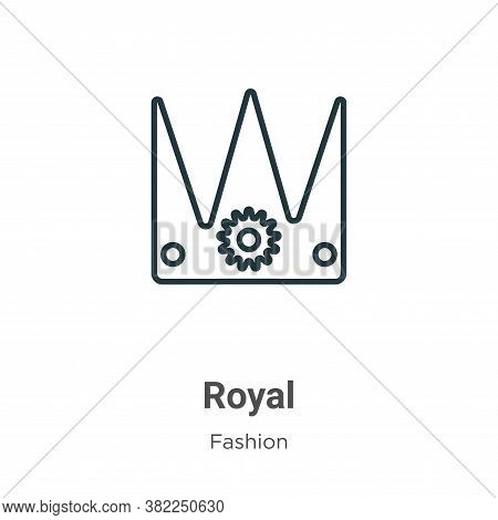 Royal icon isolated on white background from fashion collection. Royal icon trendy and modern Royal