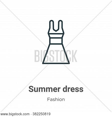 Summer dress icon isolated on white background from fashion collection. Summer dress icon trendy and