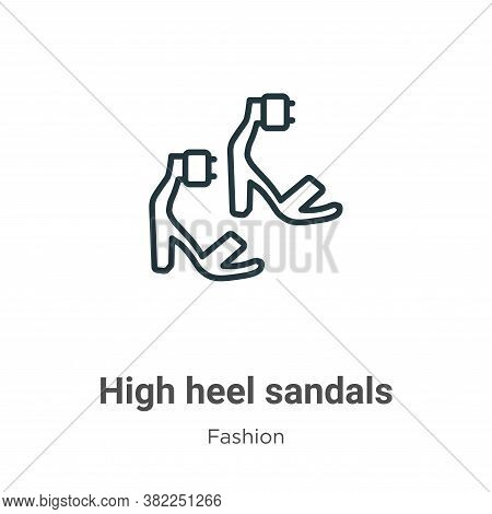 High heel sandals icon isolated on white background from fashion collection. High heel sandals icon