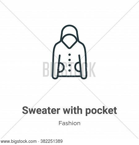 Sweater with pocket icon isolated on white background from fashion collection. Sweater with pocket i