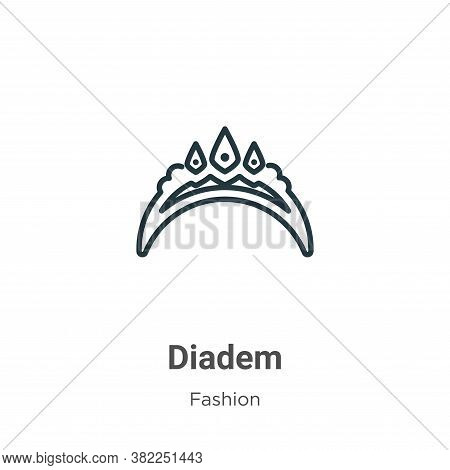 Diadem icon isolated on white background from fashion collection. Diadem icon trendy and modern Diad
