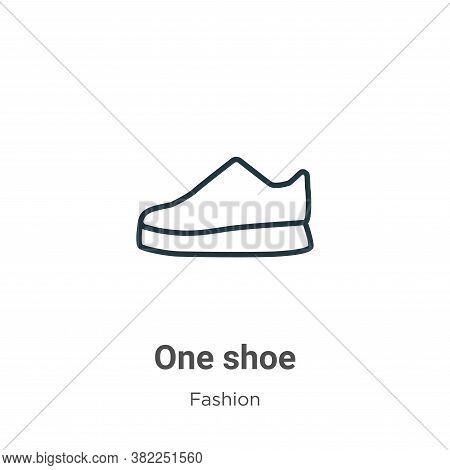 One shoe icon isolated on white background from fashion collection. One shoe icon trendy and modern