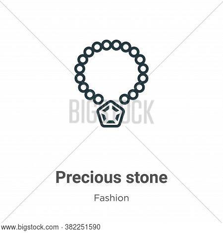 Precious stone icon isolated on white background from fashion collection. Precious stone icon trendy