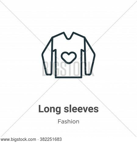Long sleeves icon isolated on white background from fashion collection. Long sleeves icon trendy and