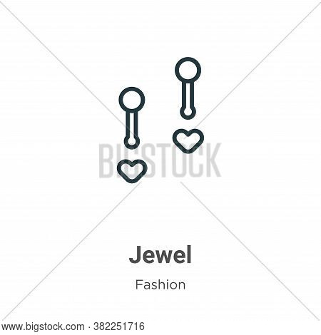 Jewel icon isolated on white background from fashion collection. Jewel icon trendy and modern Jewel
