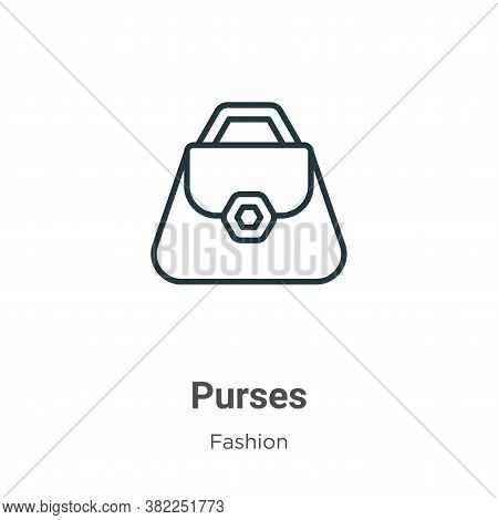 Purses icon isolated on white background from fashion collection. Purses icon trendy and modern Purs