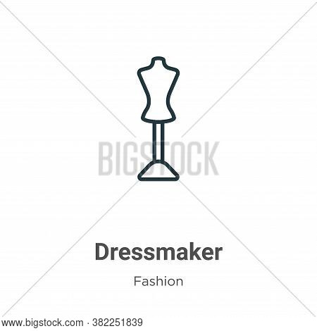Dressmaker icon isolated on white background from fashion collection. Dressmaker icon trendy and mod