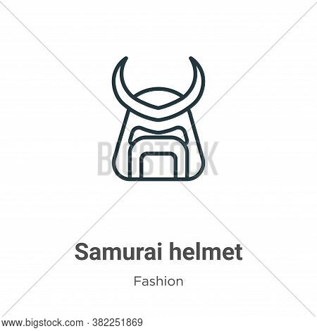 Samurai helmet icon isolated on white background from fashion collection. Samurai helmet icon trendy