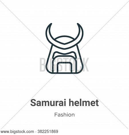 Samurai helmet icon isolated on white background from fashion collection. Samurai helmet icon trendy