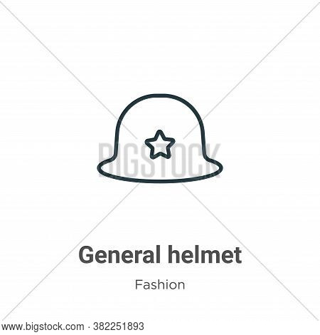 General helmet icon isolated on white background from fashion collection. General helmet icon trendy