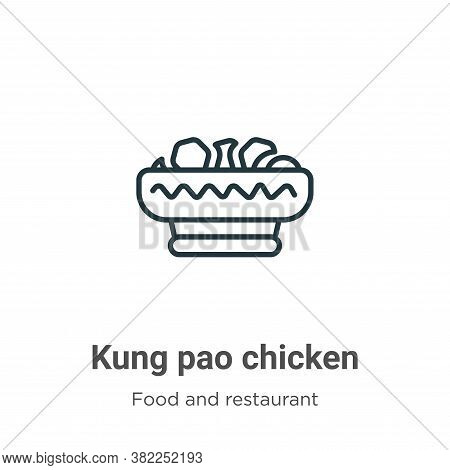Kung pao chicken icon isolated on white background from food and restaurant collection. Kung pao chi