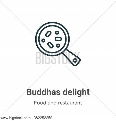 Buddhas delight icon isolated on white background from food and restaurant collection. Buddhas delig