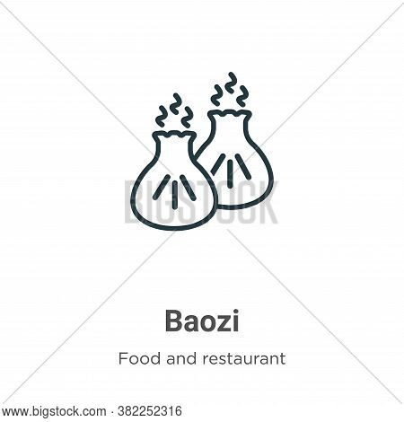 Baozi icon isolated on white background from food and restaurant collection. Baozi icon trendy and m