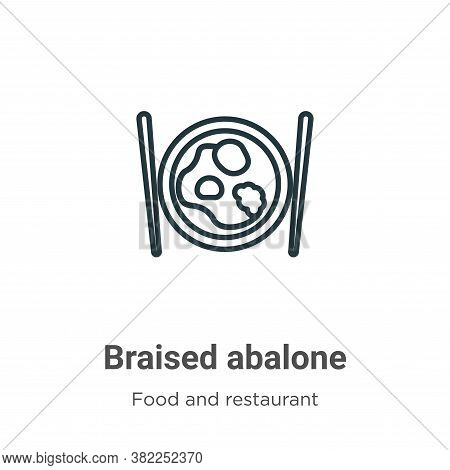 Braised abalone icon isolated on white background from food and restaurant collection. Braised abalo