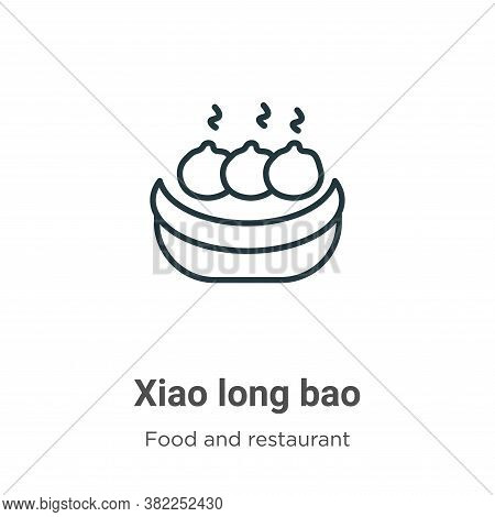 Xiao long bao icon isolated on white background from food and restaurant collection. Xiao long bao i
