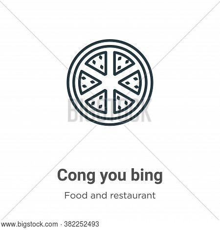 Cong you bing icon isolated on white background from food and restaurant collection. Cong you bing i