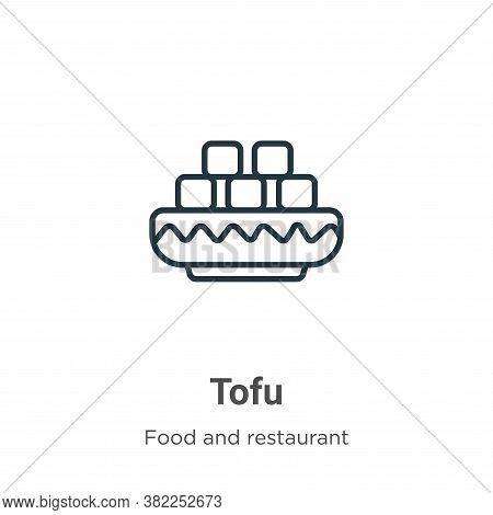 Tofu icon isolated on white background from food and restaurant collection. Tofu icon trendy and mod
