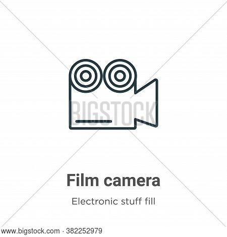 Film camera icon isolated on white background from electronic stuff fill collection. Film camera ico