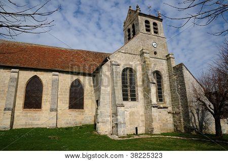 Val D Oise, staré církve Wy Dit Joli vesnice