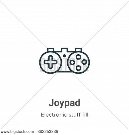 Joypad icon isolated on white background from electronic stuff fill collection. Joypad icon trendy a