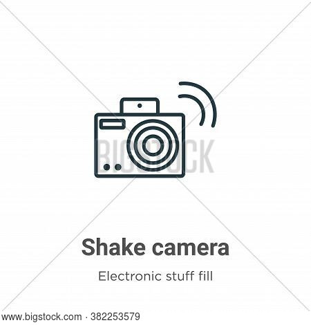 Shake camera icon isolated on white background from electronic stuff fill collection. Shake camera i