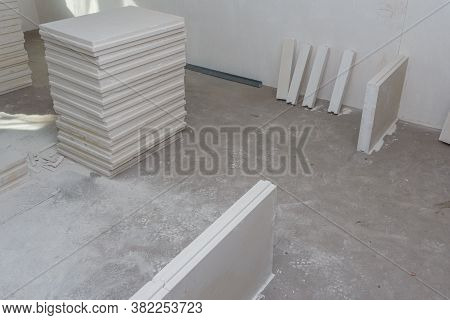 Material For Building Walls In A Building. Construction Of Internal Walls In The Apartment Using A P