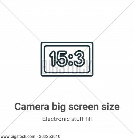 Camera big screen size icon isolated on white background from electronic stuff fill collection. Came