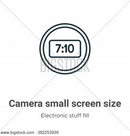 Camera small screen size icon isolated on white background from electronic stuff fill collection. Ca