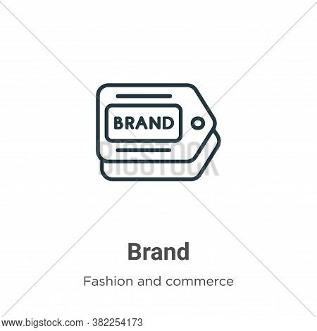 Brand icon isolated on white background from fashion and commerce collection. Brand icon trendy and