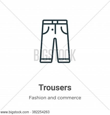 Trousers icon isolated on white background from fashion and commerce collection. Trousers icon trend