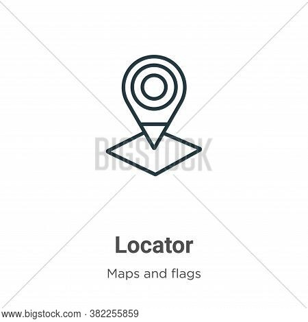 Locator icon isolated on white background from maps and flags collection. Locator icon trendy and mo