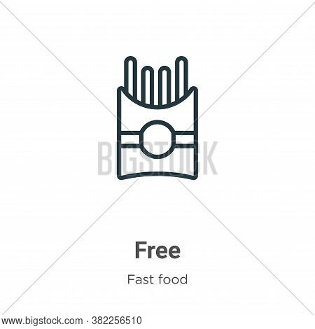 Free icon isolated on white background from fast food collection. Free icon trendy and modern Free s