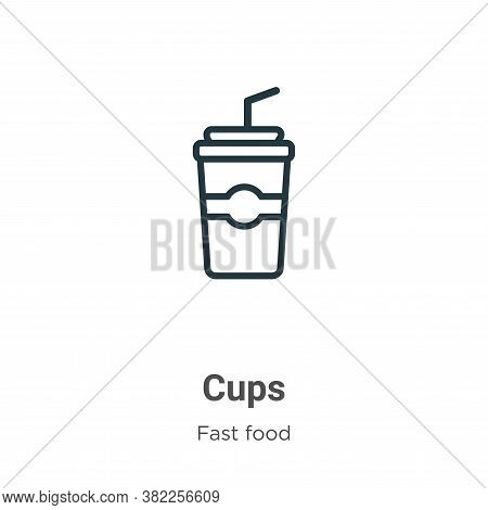 Cups icon isolated on white background from fast food collection. Cups icon trendy and modern Cups s